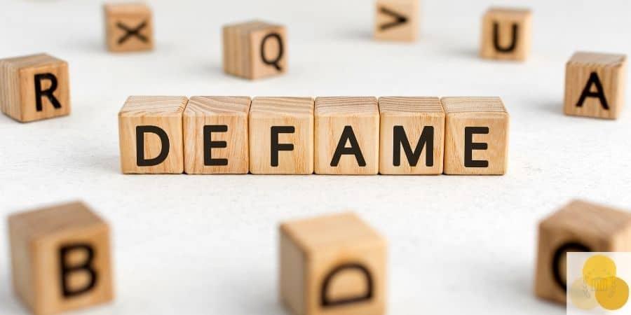 Defamation blocks