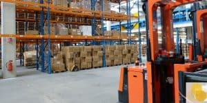 Workers' compensation construction site accident forklift at factory