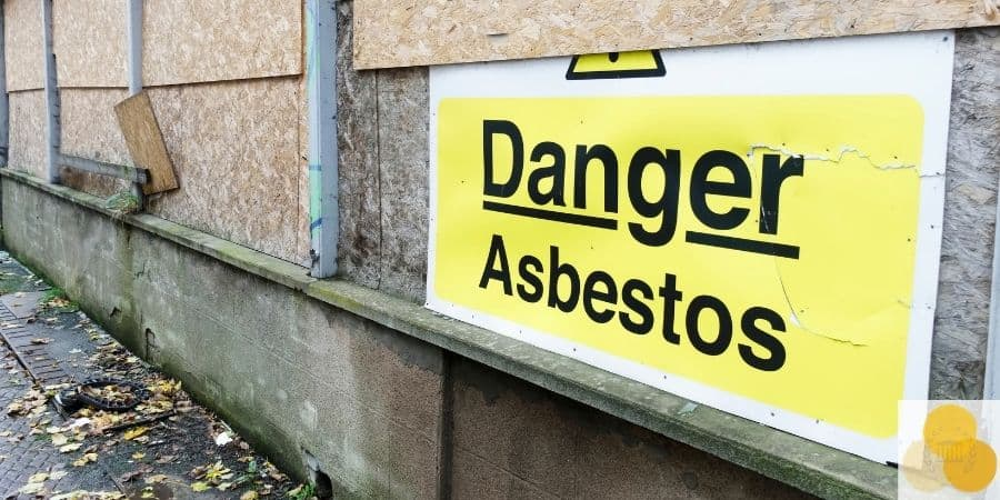Asbestos exposure sign