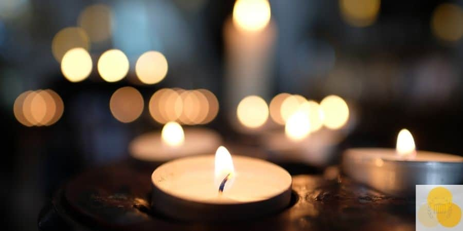 Wrongful death candles at funeral