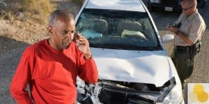 Car accident & personal injury scene