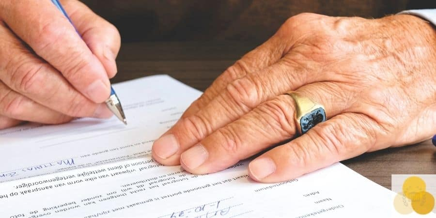 Signing contract in legal malpractice case