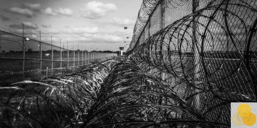 jail barbed wire
