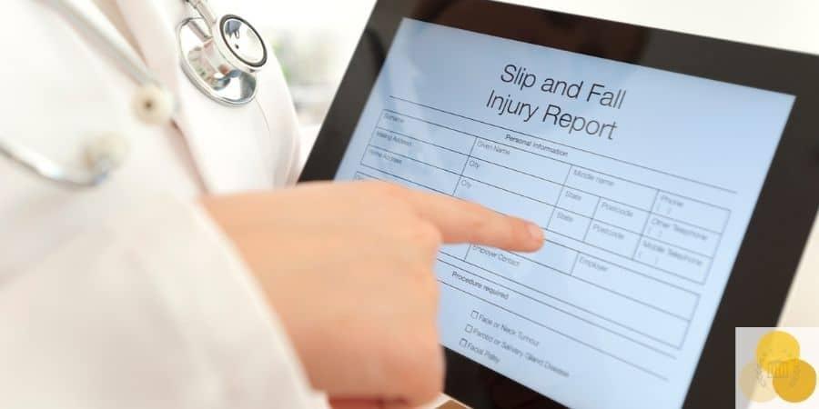 slip and fall injury report