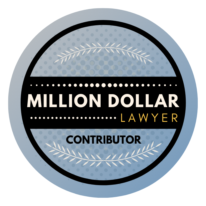 Million Dollar Lawyer Contributor Badge
